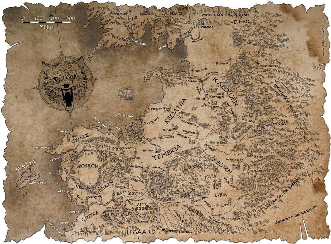 ilustracion-de-Mapa-geralt-de-rivia-pablo-uria-ilustrador