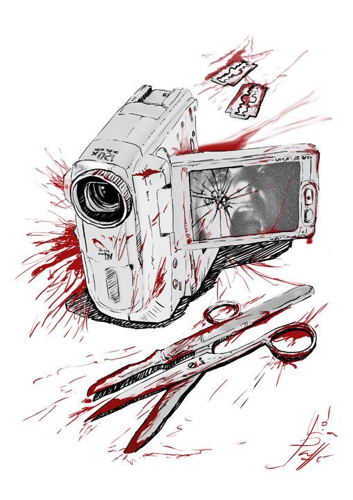 Ilustración para antología de terror   Pablo Uría Ilustrador
