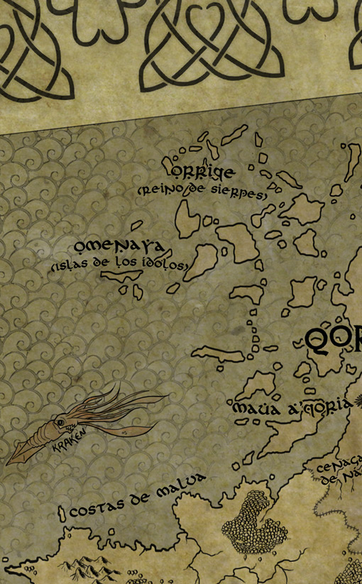 "Detalle del mapa. ""Títeres de Sangre"" de Alberto Moran Roa. Editorial Kelonia por Pablo Uria ilustrador"