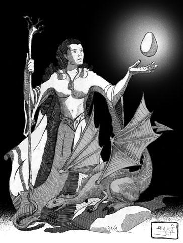 Ilustración Revista Fantasía | Pablo Uría Ilustrador