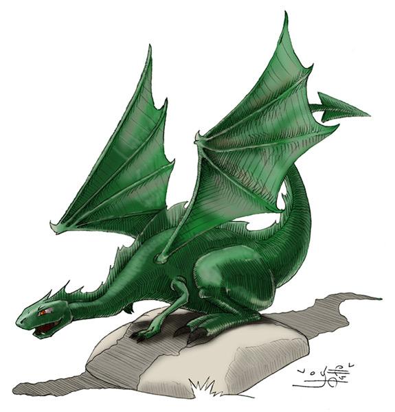 Ilustración Infantil dragón | Pablo Uría Ilustrador