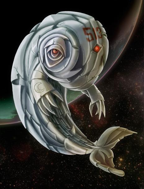 Ilustración Ballena Espacial | Pablo Uría Ilustrador