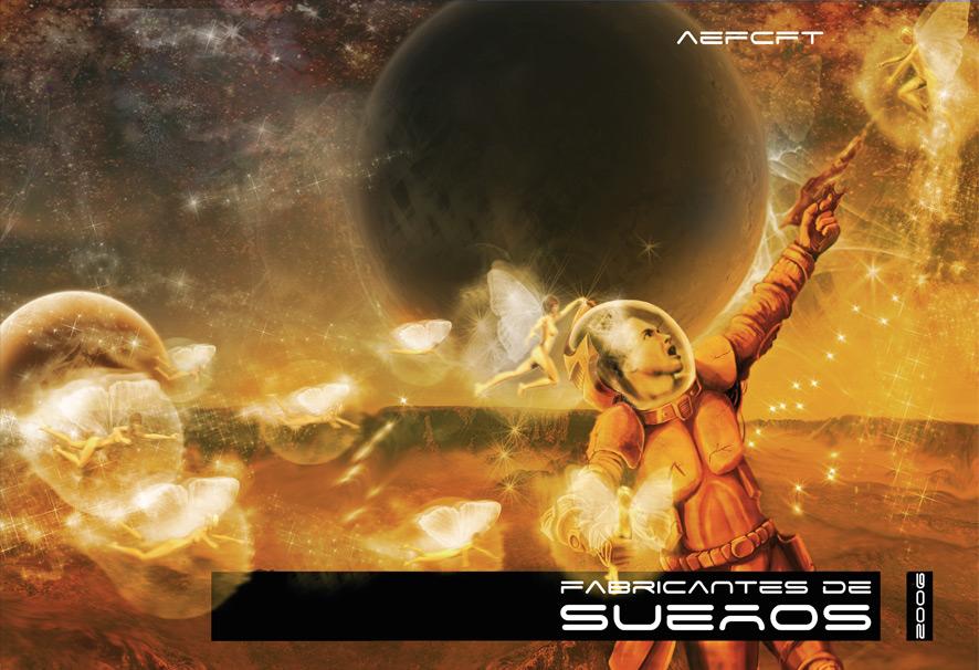 Ilustración y diseño portada Fabricantes de Sueños 2006 - Aefcft | Pablo Uría Ilustrador