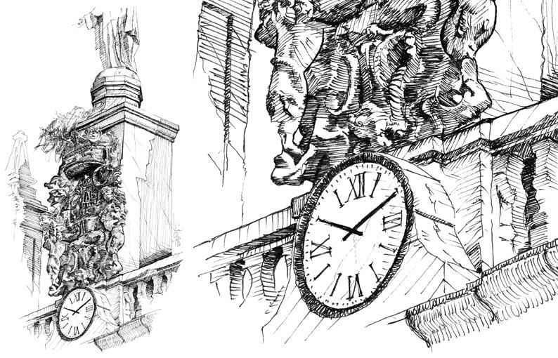 Ilustración a tinta Orduña - Pablo Uría Ilustrador