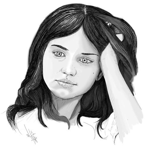 Ilustración de Ana de Armas para el Internado | Pablo Uría Ilustrador
