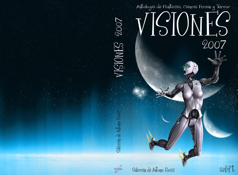 Ilustración y diseño portada Visiones 2007 - Aefcft | Pablo Uría Ilustrador