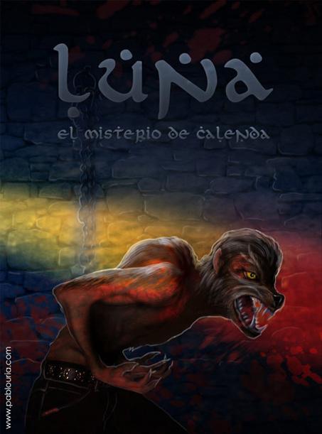 Ilustración Luna, El Misterio de Calenda | Pablo Uría Ilustrador