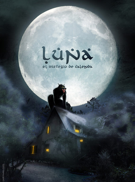 Ilustración Luna, El Misterio de Calenda| Pablo Uría Ilustrador