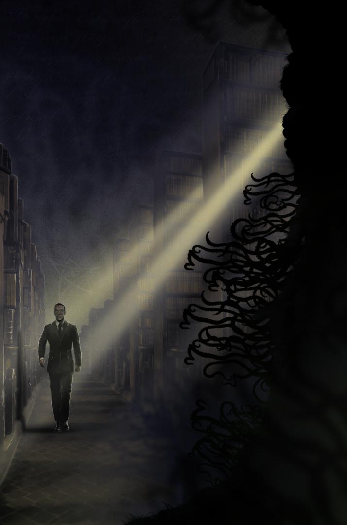 Oscura Biblioteca de la Mente | Pablo Uría Ilustrador