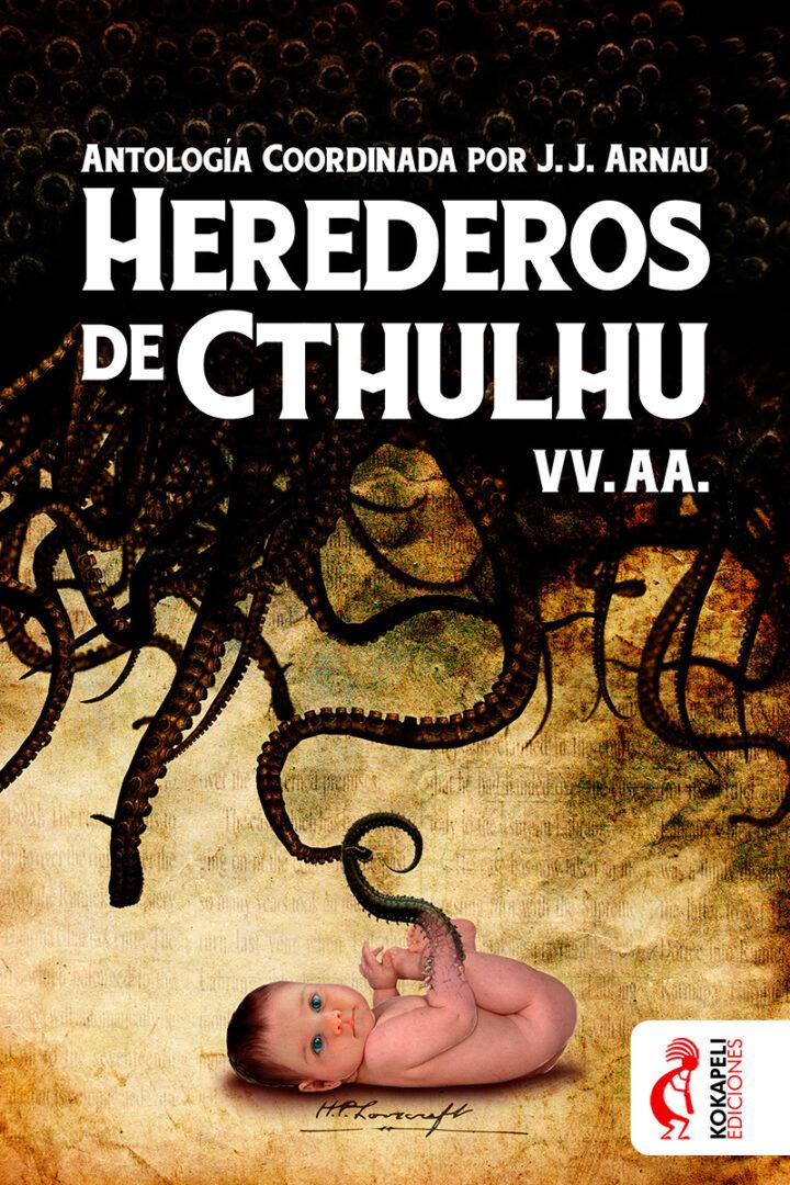 Ilustración portada - Herederos de Chtulhu - Kokapeli Ediciones | Pablo Uría Ilustrador
