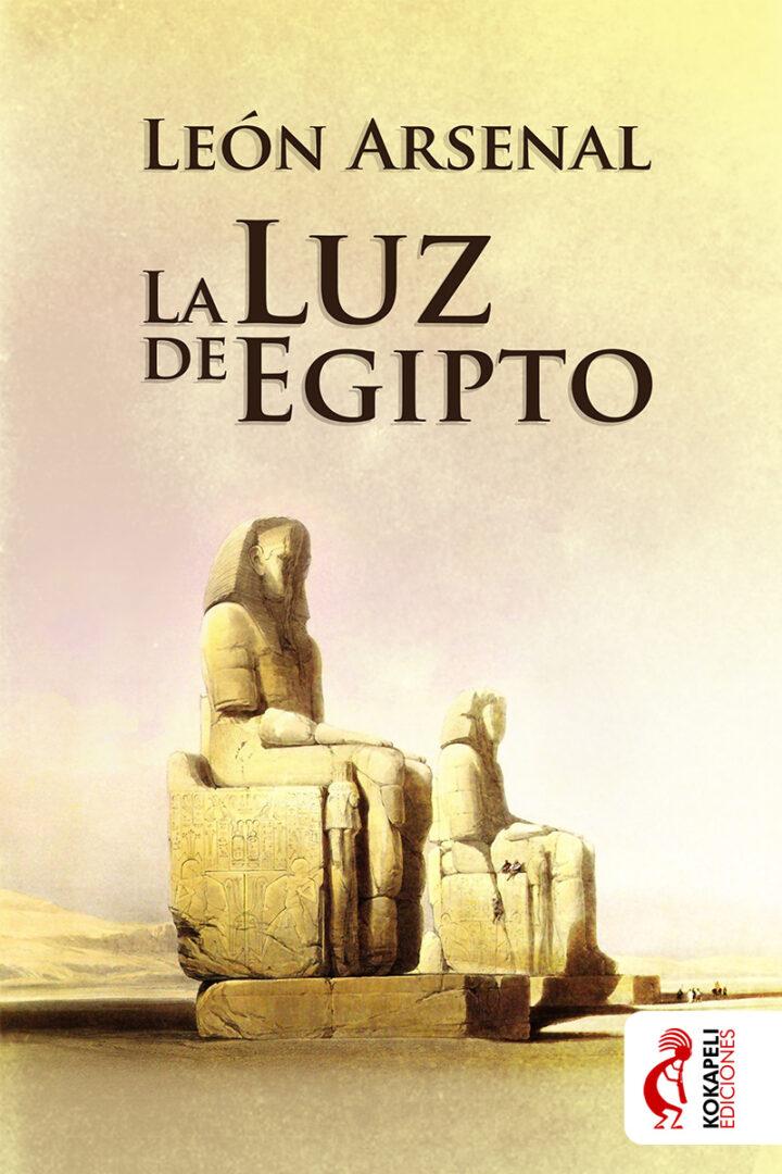 Diseño Cubierta La Luz de Egipto - Kokapeli Ediciones | Pablo Uría Ilustrador