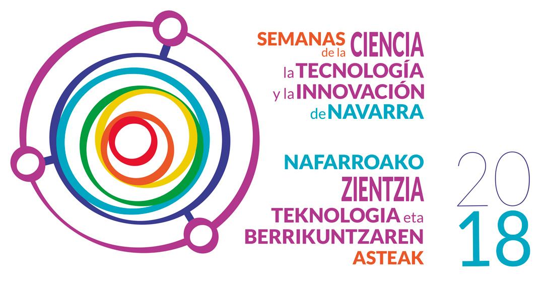 Logotipo Semanas Ciencia Navarra | Pablo Uría Ilustrador