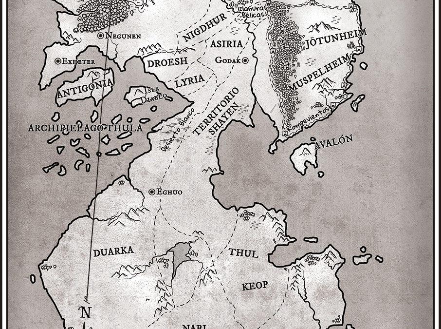 Ilustración de mapa para novela