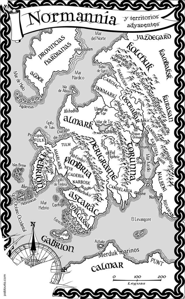 Mapa Monarquias de Dios - Alamut - Pablo Uria Ilustrador