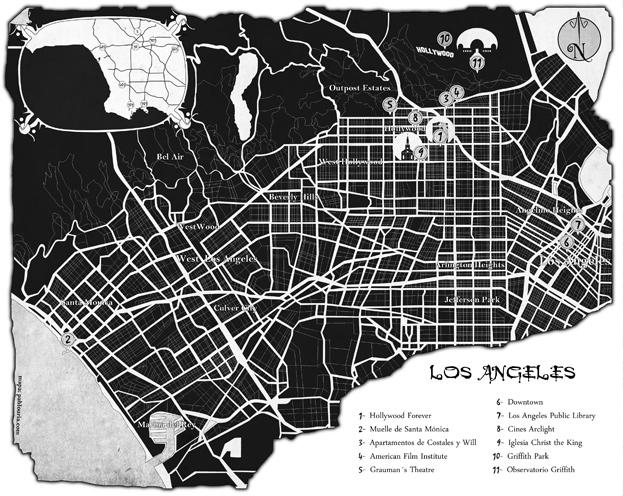 Ilustracion de mapas - Una de Vampiros - Pablo Uria Ilustrador mapas