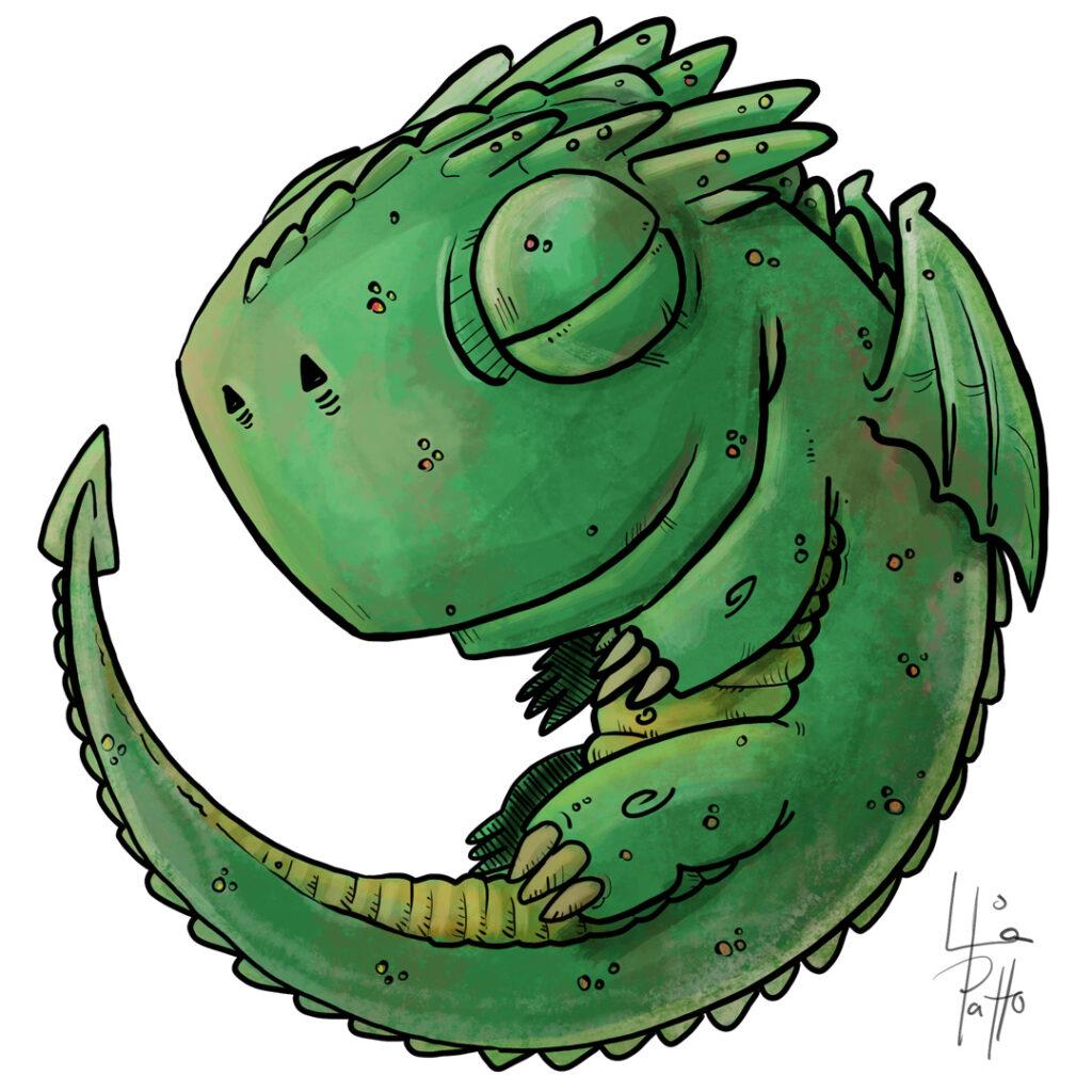 pequeño dragon - pablo uria ilustrador infantil