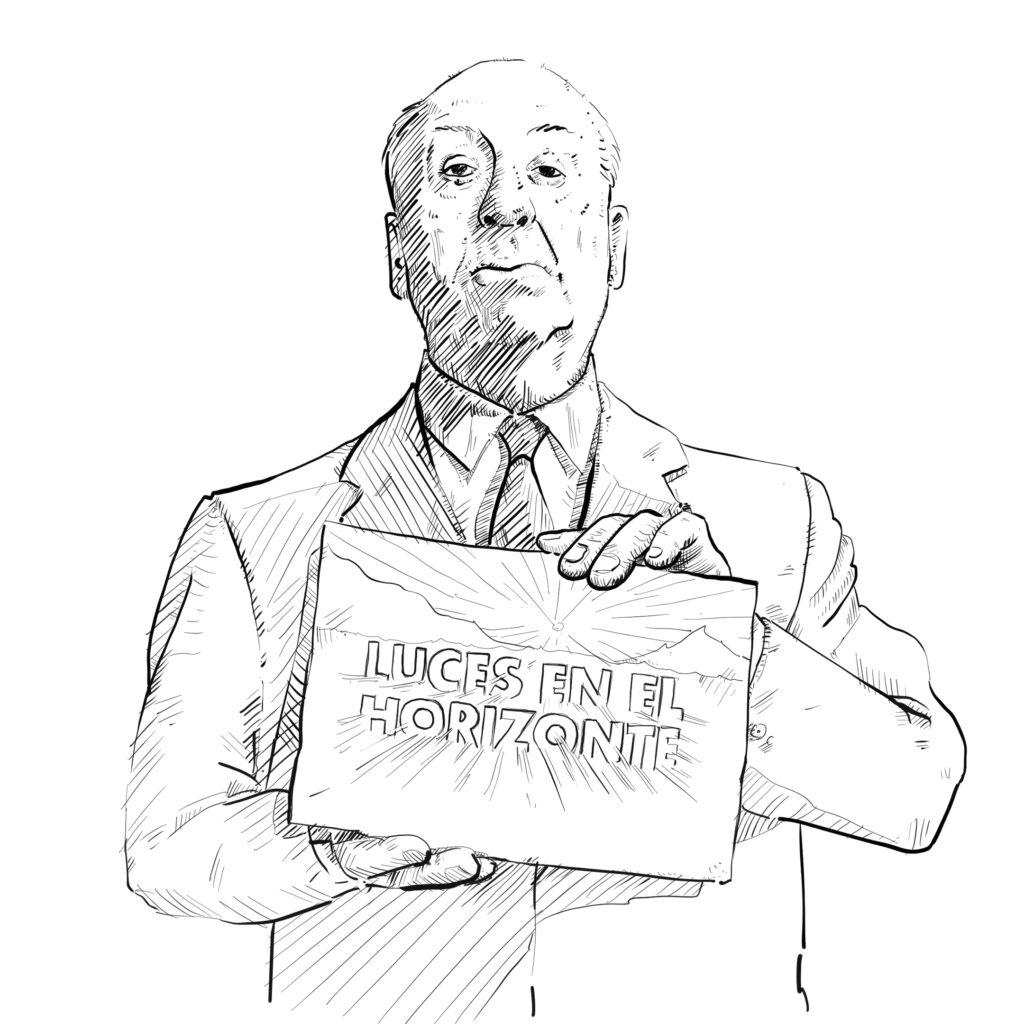 Ilustración de Alfred Hitchcock - Pablo Uría Ilustrador