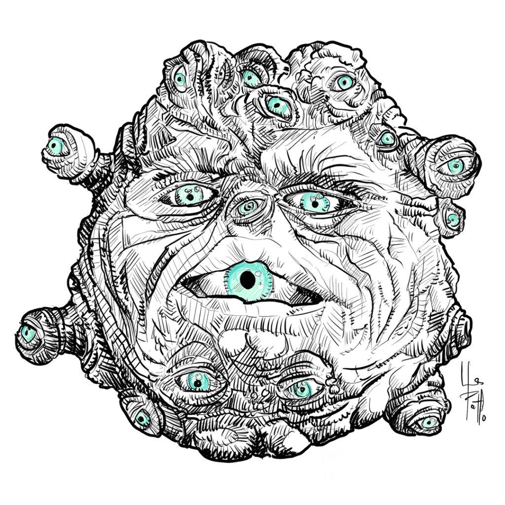 Ilustración de Golpe en la pequeña china - Pablo Uría Ilustrador