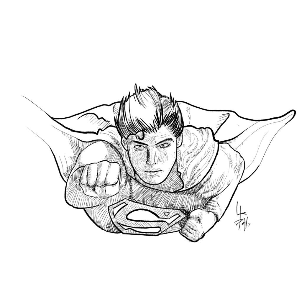 Ilustración de Superman - Pablo Uría Ilustrador