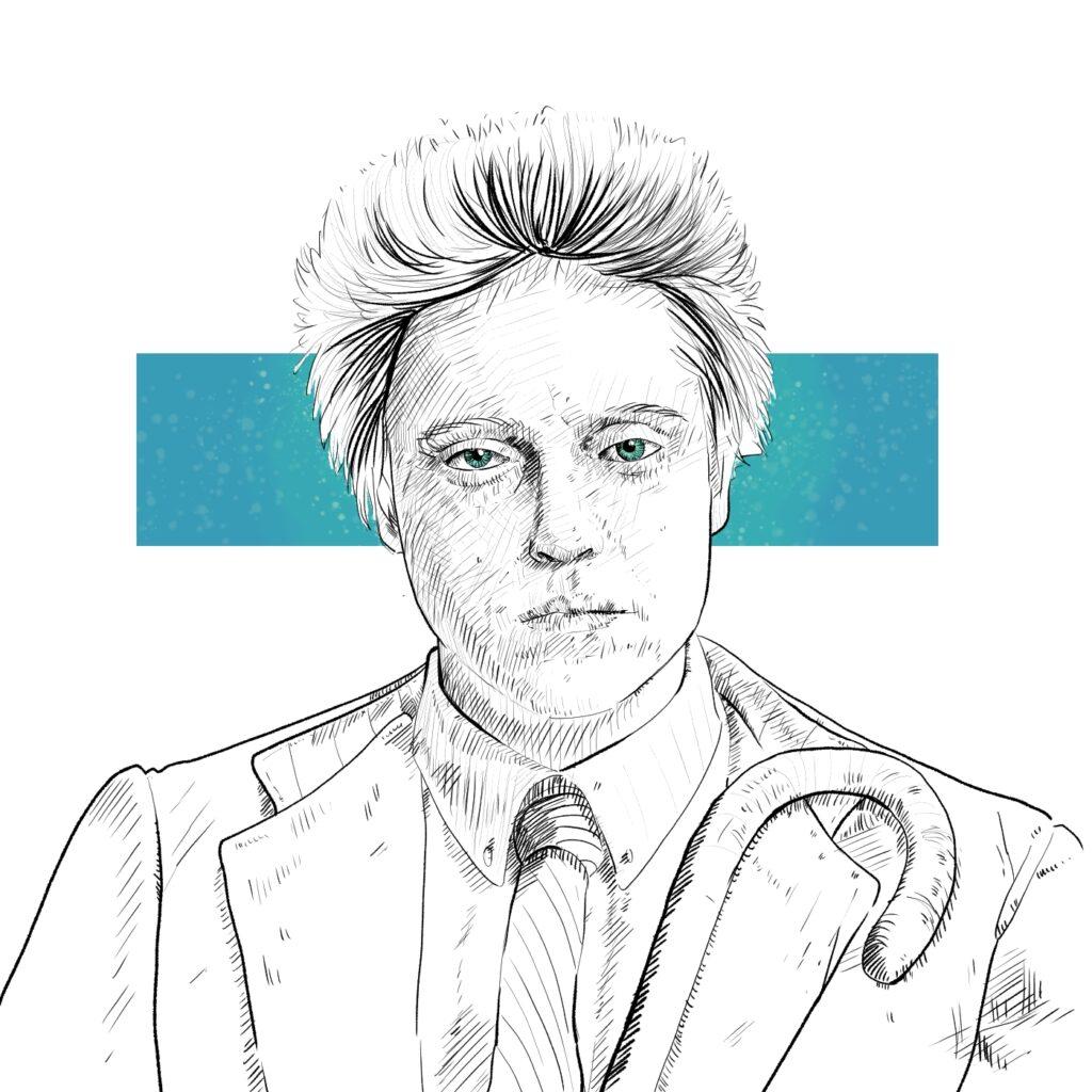 Ilustración para el podcast de LA ZONA MUERTA de Luces en el Horizonte | pablo Uría Ilustrador