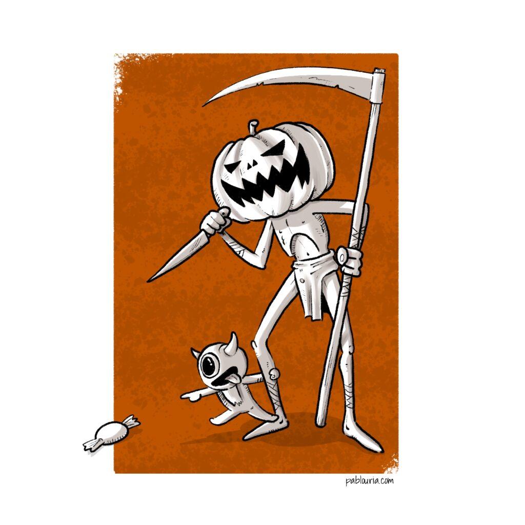 Noveno programa de Luces en eh Horizonte de la novena temporada. Programa especial de halloween. A Luis le apetecía comentar sobre los miedos que somos.  | Pablo Uría Ilustrador