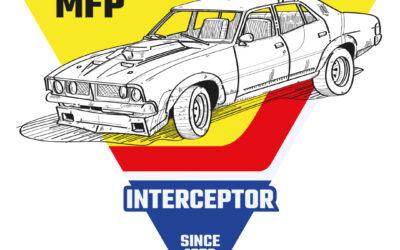 Ilustración del Ford Falcon XB Sedan (Mad Max 1979)