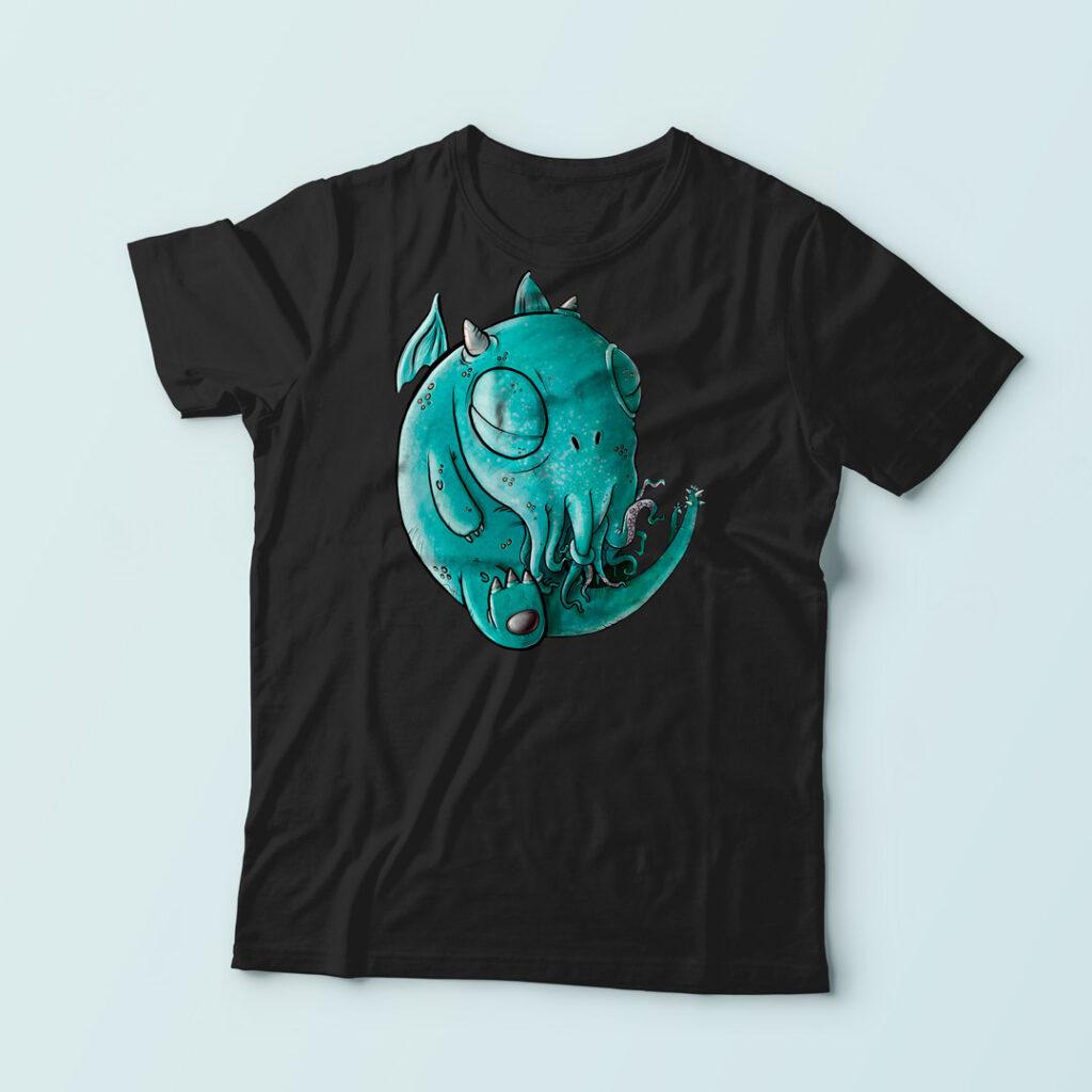 Camisetas de un monísimo Chtulhu | Pablo Uría ilustrador