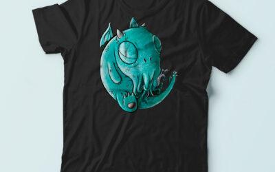 Camisetas de un monísimo Chtulhu