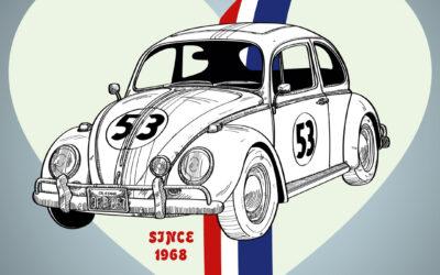 Ilustración del Volkswagen Beetle – Herbie (1968)