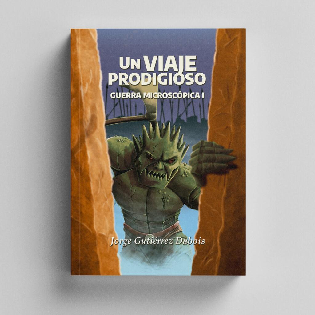 Ilustración de cubierta para novela. Un viaje prodigioso