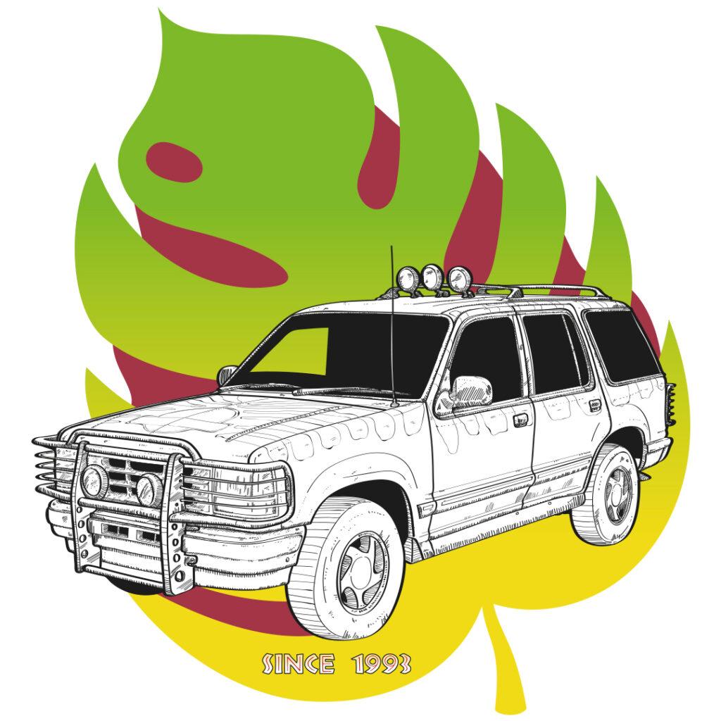 ilustracion-Ford-Explorer-paque-Jurasico-1