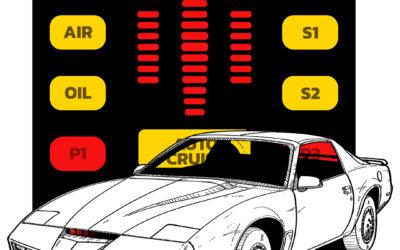 Ilustración del Coche Fantástico – Knight Rider (1982)