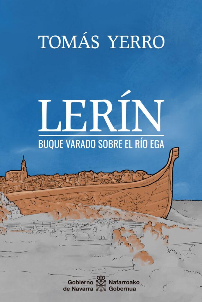 Ilustración de cubierta de libro: Lerín. Buque varado sobre el río Ega.