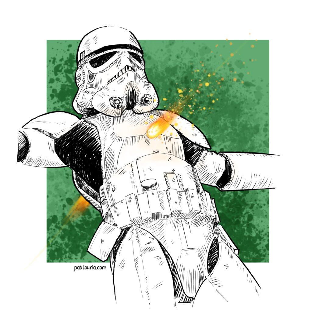 Ilustracion de Star Wars de Luces en el Horizonte | Pablo Uria Ilustrador