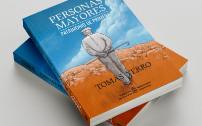 Ilustración de cubierta de libro: Personas mayores Patrimonio de primera.