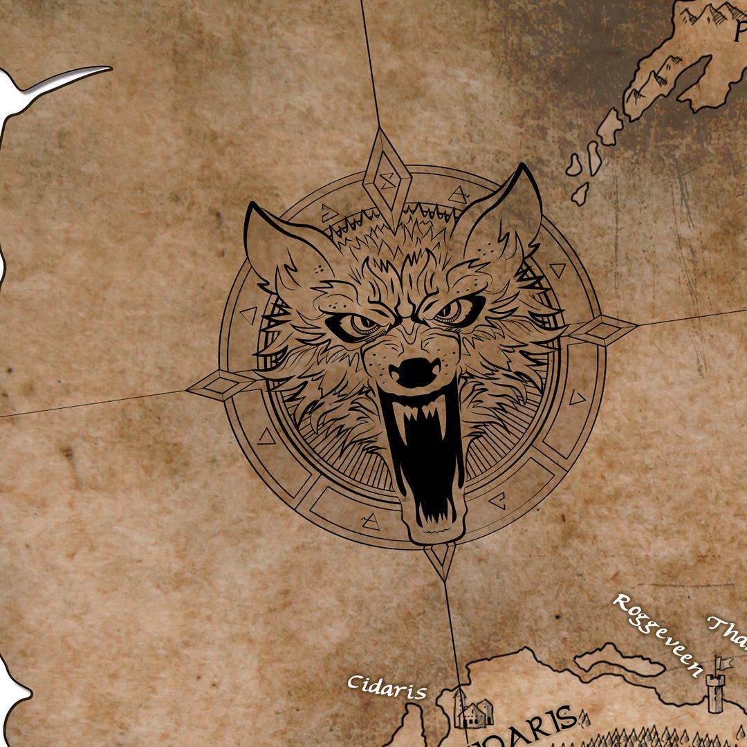 Mapa para las novelas de Geralt de Rivia - Pablo Uria Ilustrador