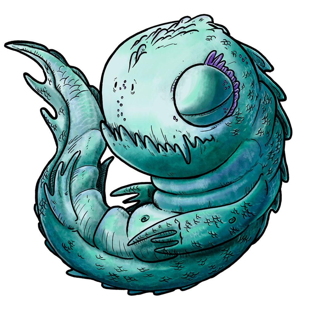 ilustración infantil Baby Leviatan - Pablo Uria ilustrador editorial