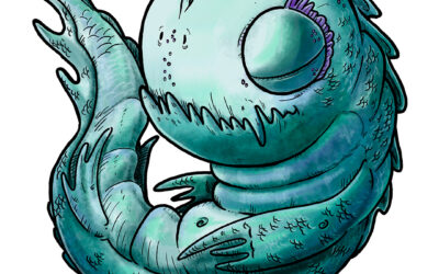 Ilustración infantil de un pequeño Leviatán