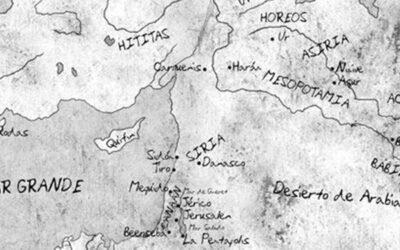 Ilustración de mapa para la novela «Heredero de la alquimia»