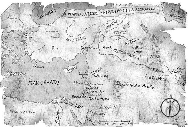 mapa de novela - El Heredero de la alquimia - pablouria ilustrador de mapas